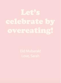 Thumb overeating greeting eid